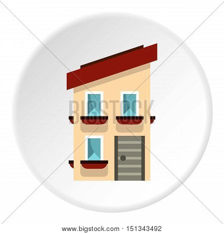 Two storey house icon. Flat illustration of two storey house vector icon for web