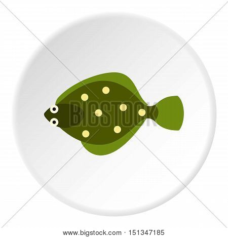 Flounder icon. Flat illustration of flounder vector icon for web