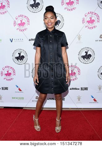 LOS ANGELES - OCT 8:  Yara Shahidi arrives to the Carousel of Hope 2016 on October 8, 2016 in Hollywood, CA