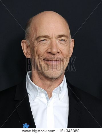 LOS ANGELES - OCT 10:  J.K. Simmons arrives to