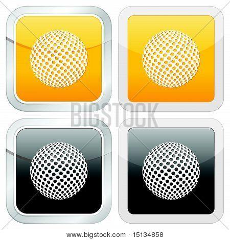square icon golf ball