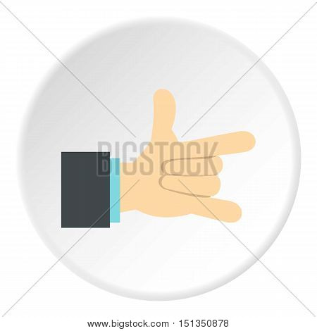 Gesture with index finger and little finger icon. Flat illustration of gesture with index finger and little finger vector icon for web