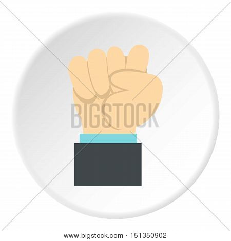 Clenched fist icon. Flat illustration of clenched fist vector icon for web