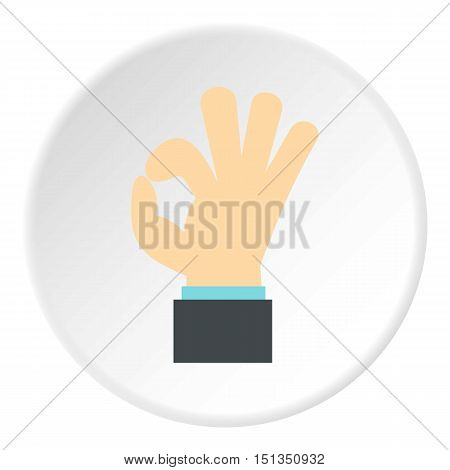 Gesture okay icon. Flat illustration of gesture okay vector icon for web