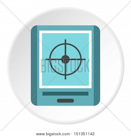 GPS navigator icon. Flat illustration of GPS navigator vector icon for web
