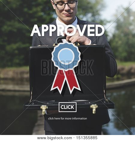 Approved Certified Quality Guarantee Prize Award Concept