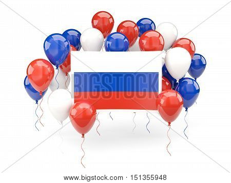 Flag Of Russia With Balloons