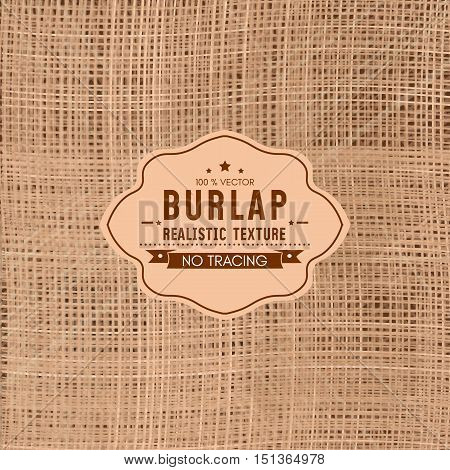 Realistic texture of burlap sackcloth background vector