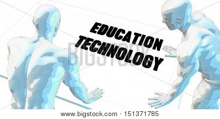 Education Technology Discussion and Business Meeting Concept Art 3d Illustration Render