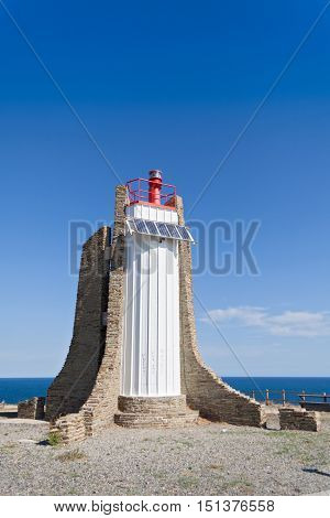 Lighthouse of the Cap Cerbere, Languedoc-Roussillon, France