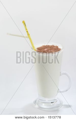 White Drink Witch Chocolate On White Background