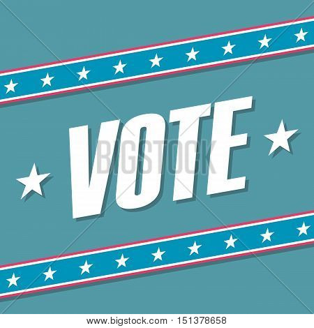 US Vote banner. Election poster. Vector illustration.
