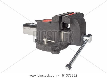Table vise isolated on white.clamp, table, vice,