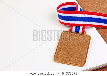 Collection Of Blank Coins Or Golden Medals. Blank Templates Of Gold Medals. Blank Medals Set.