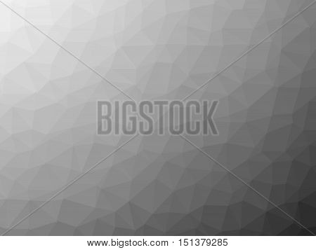 Shades of grey low poly background. Geometric vector illustration mosaic made of triangles.