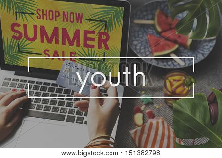 Youth Young Teenagers Teens Adolescence Concept