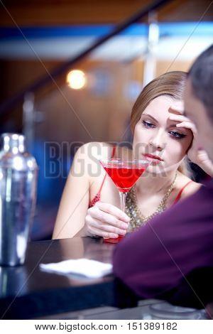 Longing at bar