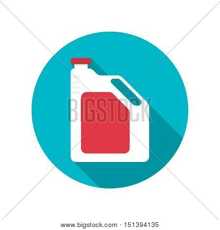 Canister under engine oil. Modern thin line icon. outline symbol. Vector. Can for lubricating material. The concept of service oil change, repair. flat style