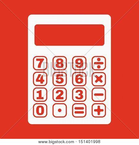 The calculator icon. Calculator symbol. Flat Vector illustration