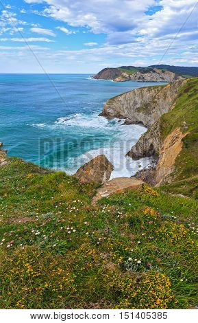 Summer Ocean Bay Coastline View (spain).