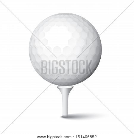 Golf Ball in Tee Club Play Sphere Game Sport