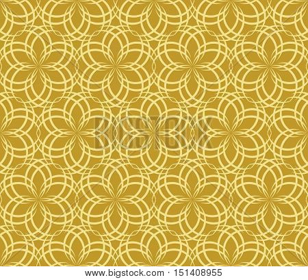 abstract flowers pattern 2 / Seamless vector pattern of abstract floral elements on ocher background.