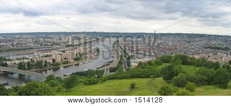 Large View On The City, Rouen, France, Panorama