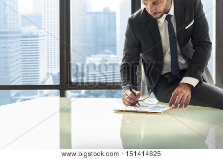 Businessman Enterpreneur Motivation Objective Concept
