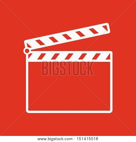 The clapper board icon. Clapper board symbol. Flat Vector illustration