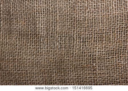 The Texture Of Coarse Burlap Closeup