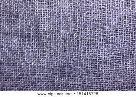 The Texture Of Coarse Burlap Closeup
