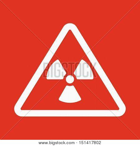 The radiation icon. Radiation symbol. Flat Vector illustration