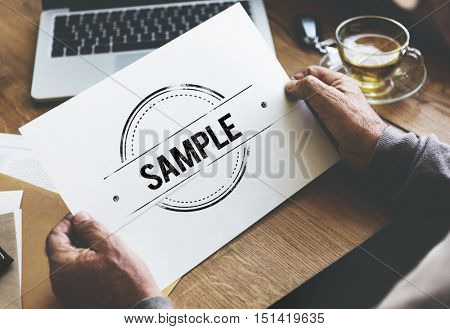 Sample Option Test Choosing Data Material Concept