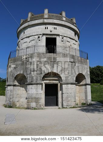 Ravenna Italy Entrance To The Mausoleum Of Theoderic