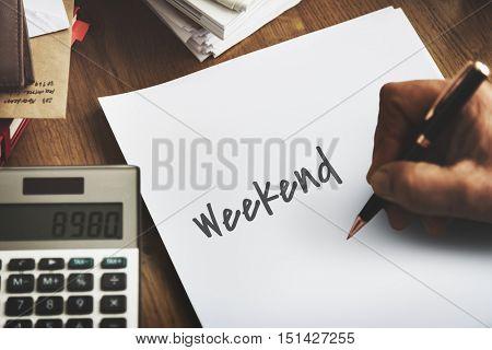 Weekend Planner Agenda Calendar Concept