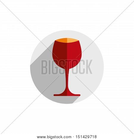Winery theme decorative stylish wine goblet. Wine tasting conceptual symbol graphic design element for use in advertising.
