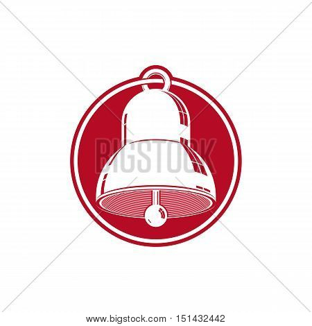 3d stylish bell isolated on white. Three-dimensional design element.