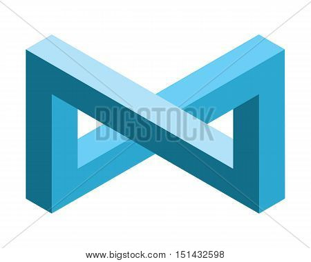 infinite 3d symbol optical illusion isometric vector design