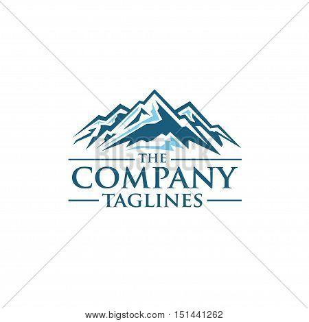 Mountains vector logo concept ,Mountain Expedition . Tourism Vector template