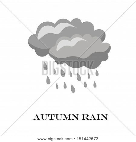 Blue Cloud Rain Icon Isolated On Background. Modern Simple Cartoon Forecast Storm Sign.