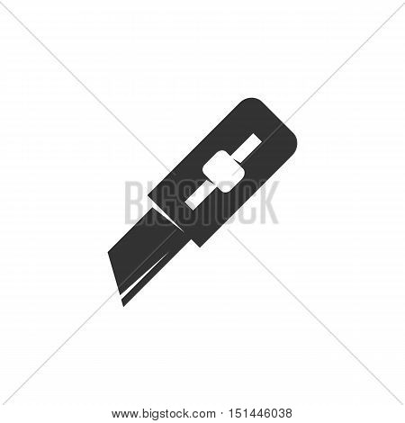 Paper knife Icon isolated on a white background. Paper knife Logo design vector template. Simple Logotype concept icon. Symbol, sign, pictogram, illustration - stock vector