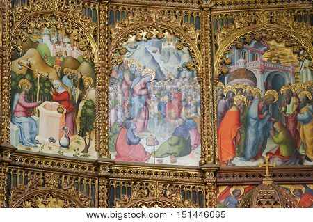 Scenes Of The Gospel In Salamanca Old Cathedral