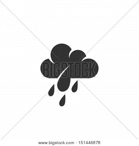 Rain Icon isolated on a white background. Rain Logo design vector template. Simple Logotype concept icon. Symbol, sign, pictogram, illustration - stock vector