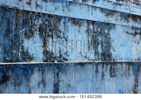 Blue bleacher steps in horizontal 3:2 format.