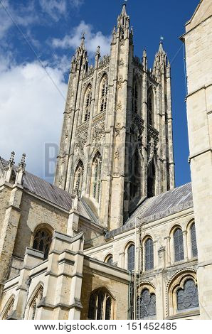 Canterbury Cathedral tower in kent  england uk