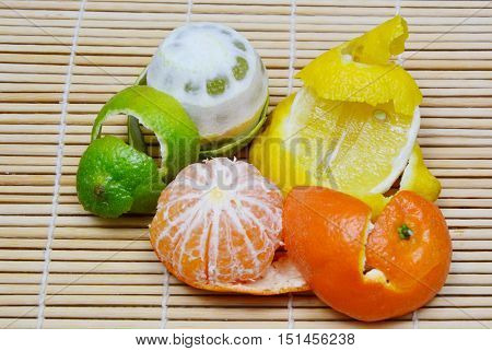 The benefits of citrus peel. clean stainless steel. remove coffee stains.