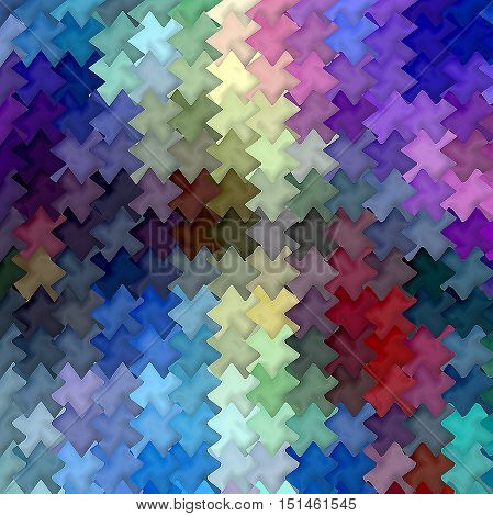 Abstract coloring background of the horizon gradient with visual mosaic, cubism and wave effects