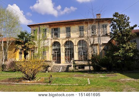 Old abansoned mansion at Monza Park, Italy