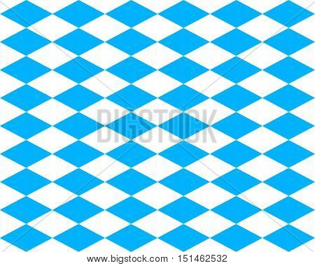 Blue And White Rhombs