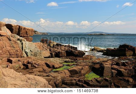 photo of the rugged rocky coast of Maine